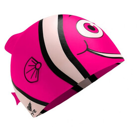 TYR Charactyrs Happy Fish Swimming Cap Kinder fluo pink